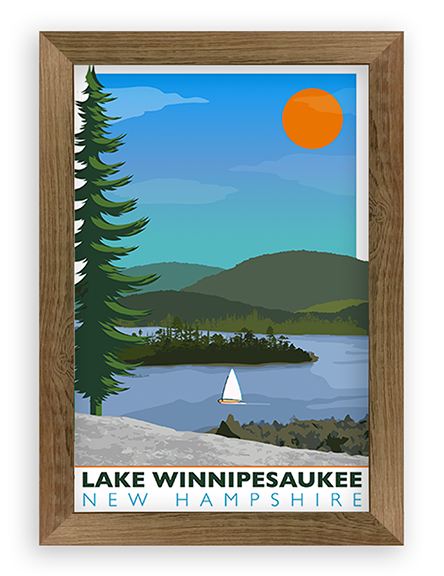 Lake Sailboat Scene – Lake Winnipesaukee