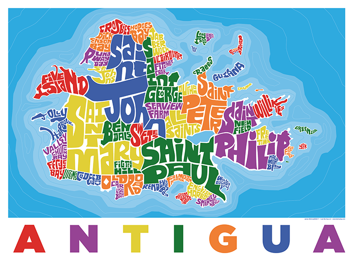 Antigua Type Map