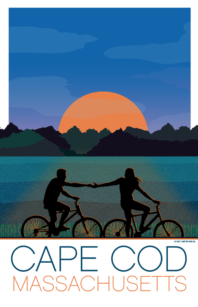 Sunset Bike Ride Illustration – Cape Cod