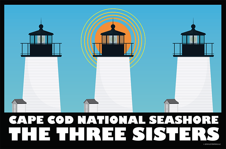 Three Sisters Lighthouses: National Park Series