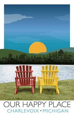Adirondack Chair Scene – Charlevoix, Michigan