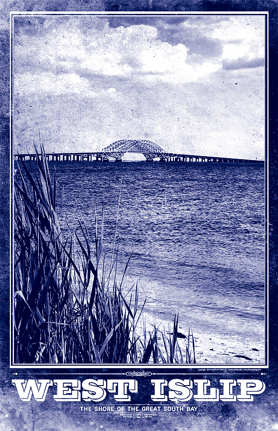 West Islip & Great South Bay Vintage Travel Poster