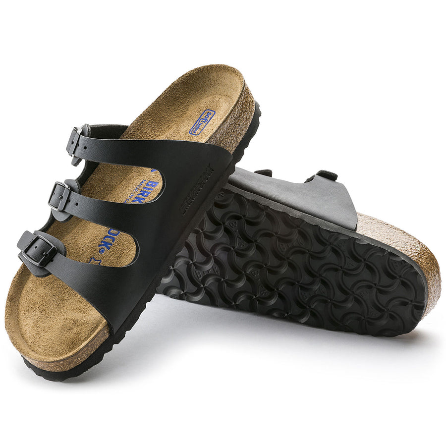 Birkenstock Florida, Women's Birko-Flor /Black        (Soft Footbed)