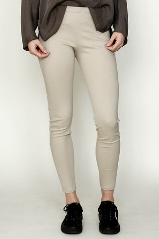 Sand Cotton Blend Double Knit Legging