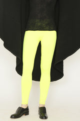 Neon Jersey Jogging Pants with Contrast Black Stitching