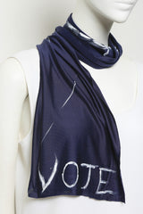 Indigo Sateen Cupro Jersey Multifunctional VOTE Scarf