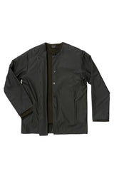 Matte Rainwear Black Two Pocket Pilgrim Rain Jacket in Waterproof Fabric