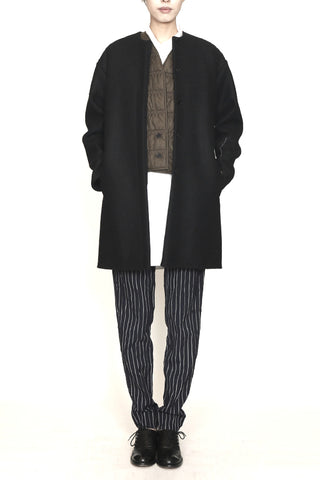 Black Wool Long Jacket