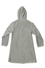 Reversible Hooded Wool and Nylon Coat