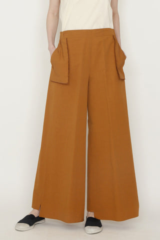 Ginger Cotton Holster Pocket Wide Legged Pant