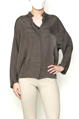 Taupe Cupro Buttoned Shirt