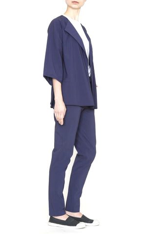 Cobalt Stretch Pants With  Back Yoke Detail