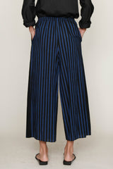 Blue and Black PJ Stripes Elasticated Wide Legged Pant
