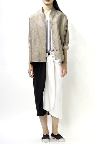Metallic Khaki Raj Shirt