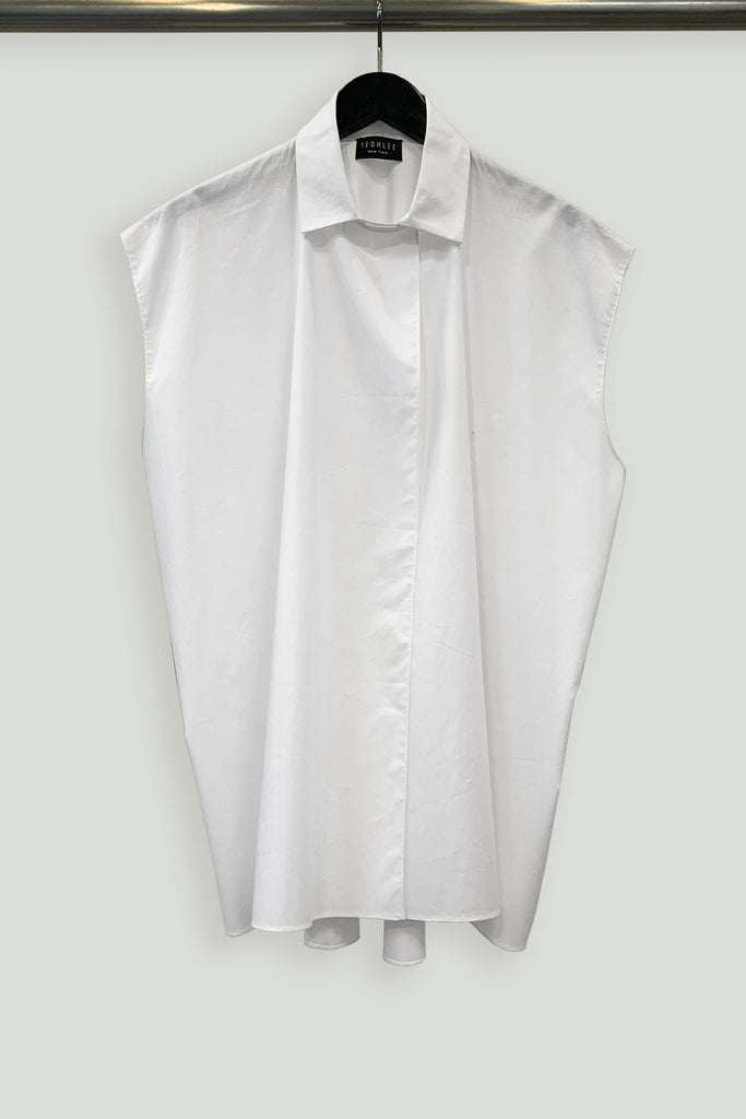 Paper Cotton One-Size-Fits-All Sleeveless Big Shirt Vest