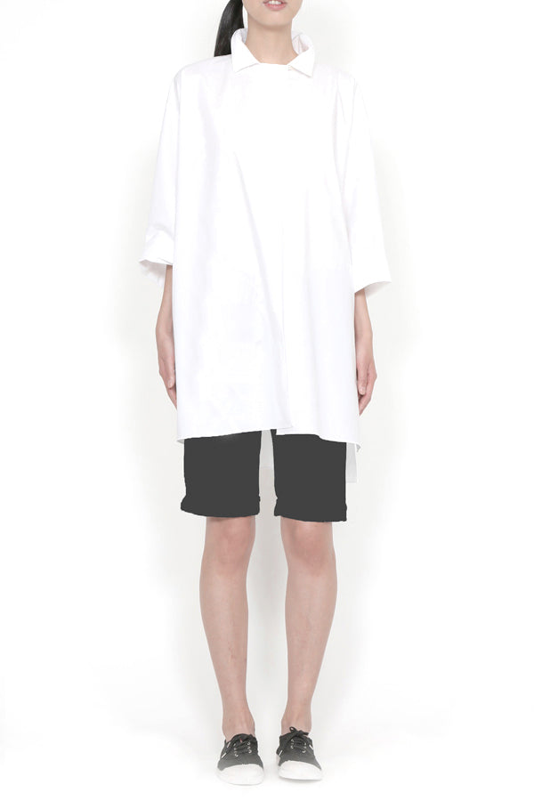 Light Paper Cotton Oversized Shirt Top