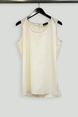 Paper Cotton Long Tank with Side Slits