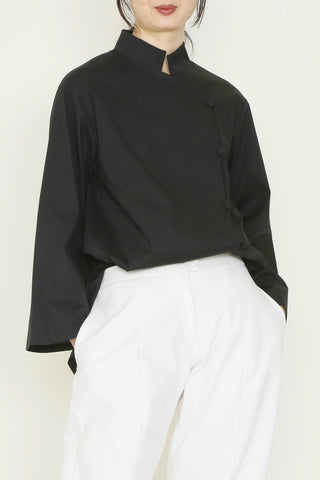 Paper Cotton Cover Button Shirt with Oversized Front Pocket