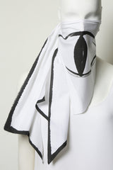 White Paper Cotton BEAR WITNESS Oversized Mask