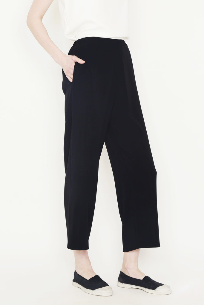 Smart Gab Microfiber Flat Front Pant with Elasticated Back Waist