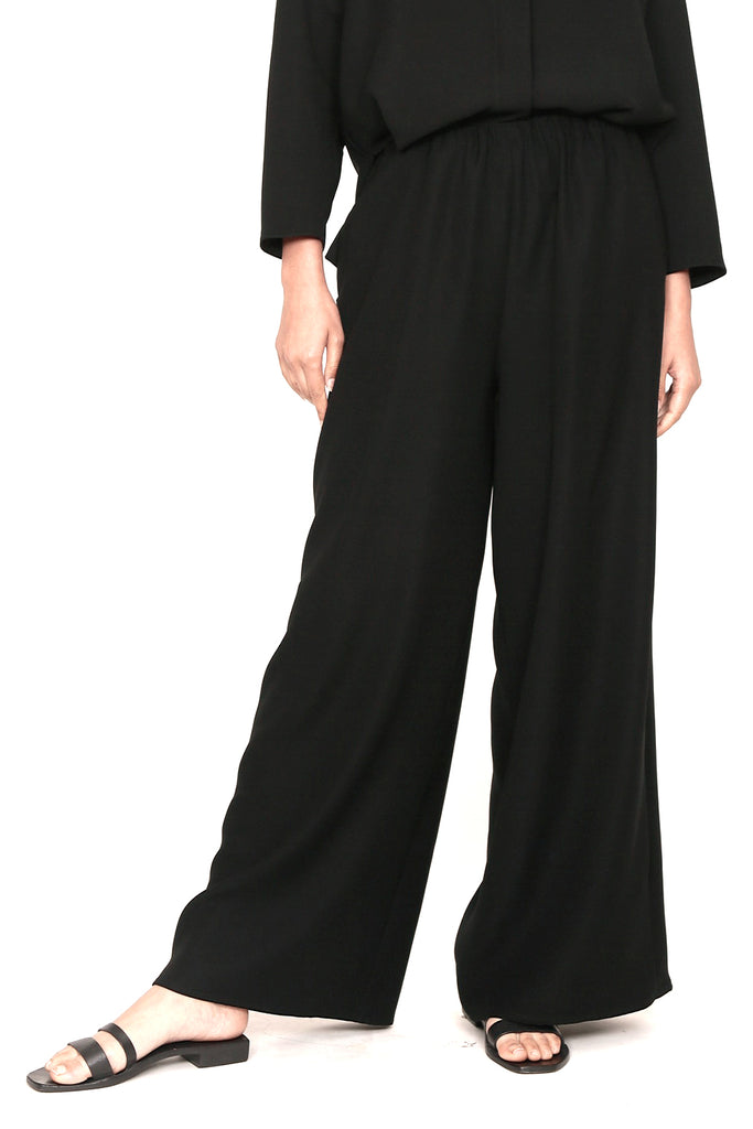 Smart Gabardine Elasticated Pajama Pant