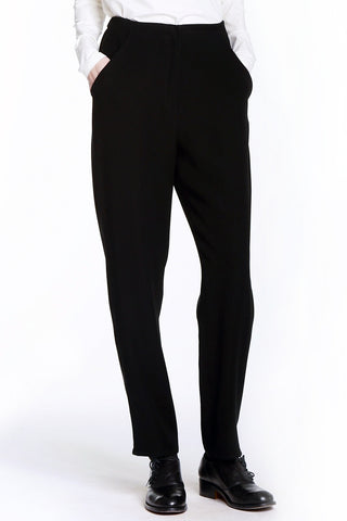 Wrinkle-Free Microfiber Pocket Pants with Elastic Back Waist