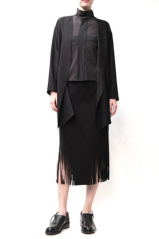 Laser Cut Fringe Swing Skirt