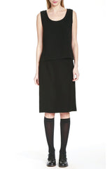 Slim Pencil Skirt in Smart Gab Microfiber