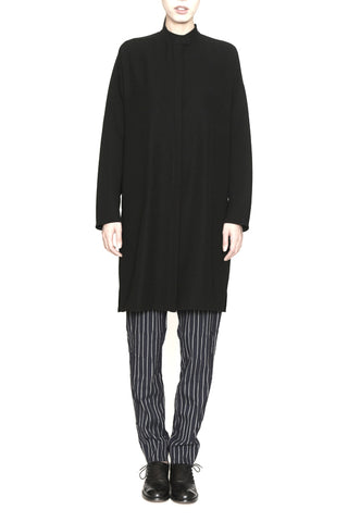 Smart Gabardine Long Sleeve Tunic