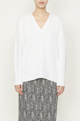 Smart Gabardine V Neck Gusset Top