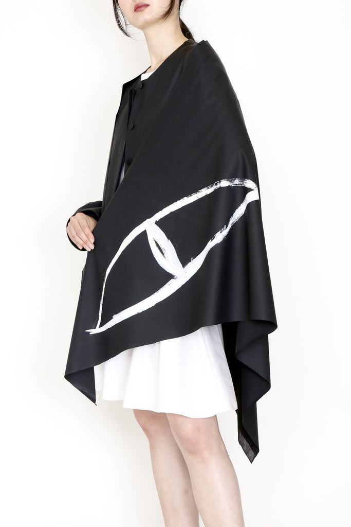 Matte Water-Repellent Hand-painted Triangular BEAR WITNESS Shawl