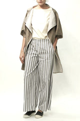 Metallic Khaki Tulip Sleeve Overcoat