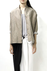 Metallic Khaki Raj Jacket