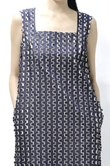 Textured Tank Dress with Side Pockets