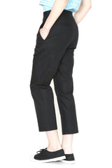 Stretch Cotton Crop Pants