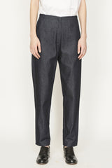 Dark Denim Elasticated Back Pocket Pant
