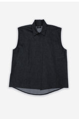 Dark Denim One Size Fits All Sleeveless Shirt