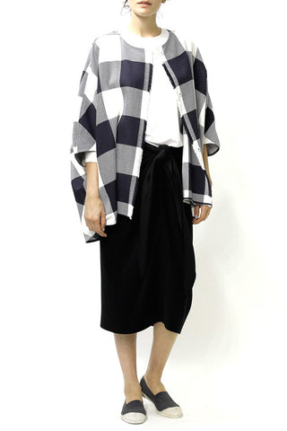 Buffalo Plaid Cocoon Coat