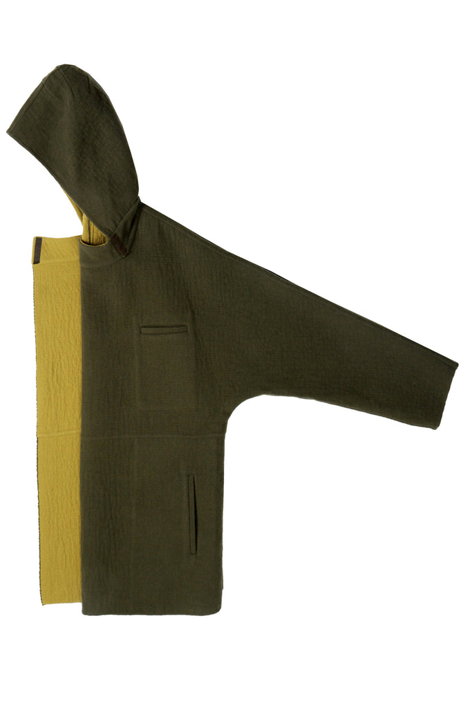 Loden and Ochre Doubleface Wool Limited Edition Architect Coat
