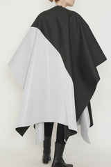 Black and White Gunmetal Water Repellent One-Size-Fits-All Cape