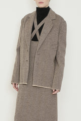 Herringbone Tweed Jacket with Eyeglass Pocket
