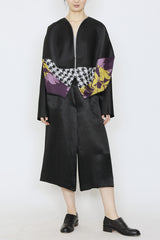 Duchess Satin and Kabuki Jacquard One-Size-Fits-All Baseball Jacket