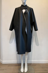 Black PVC Zippered Industry Coat