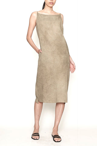 Ash Cotton Slip Dress with Side Pockets