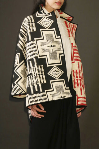 Reversible Aztec Jacquard One-Size-Fits-All Jacket