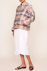 Ali Baba Jacquard Short Jacket with Pockets