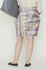 Multicolor Ali Baba Jacquard Accordion Skirt with Hidden Pockets