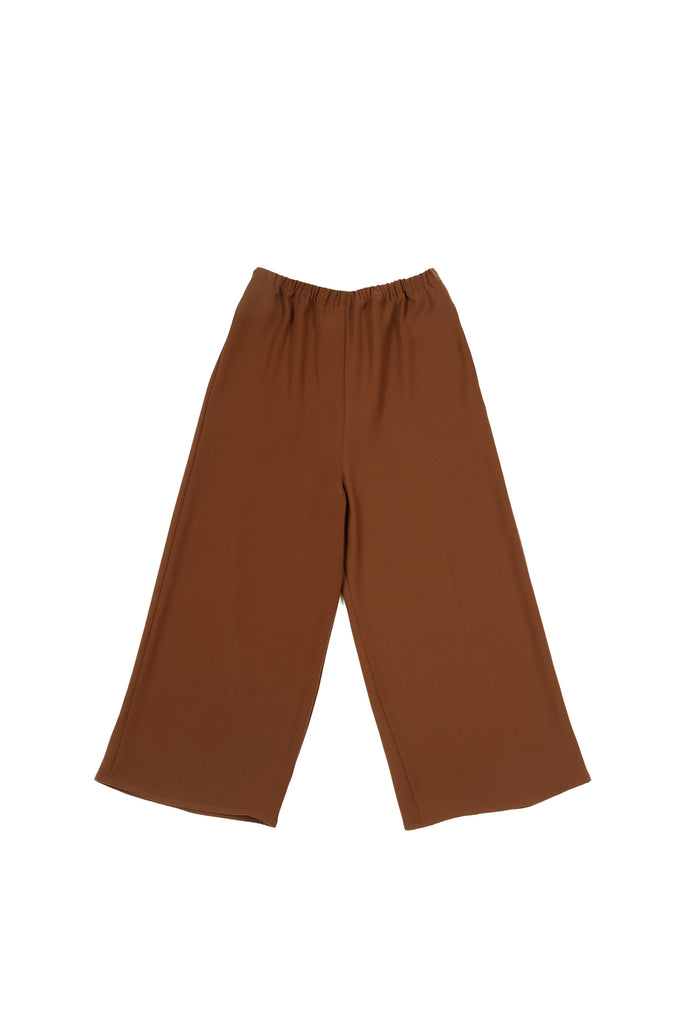 Smart Gabardine Cropped Pajama Pant with Elasticated Waist