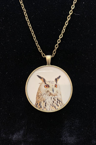 Neil Manson Great Horned Owl Pendant Necklace