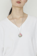 Neil Manson Red Crested Turaco Pendant Necklace